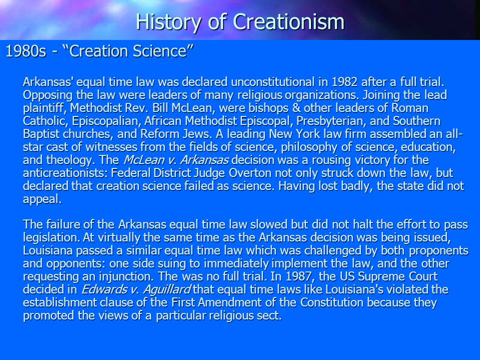 ICR Tenets of Biblical Creationism The Creator of the universe is a triune God: Father, Son, and Holy Spirit.
