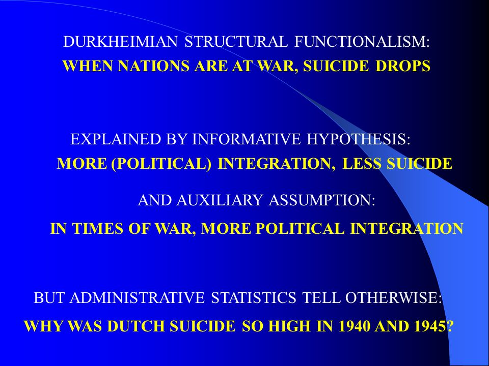 BUT ADMINISTRATIVE STATISTICS TELL OTHERWISE: WHY WAS DUTCH SUICIDE SO HIGH IN 1940 AND 1945.