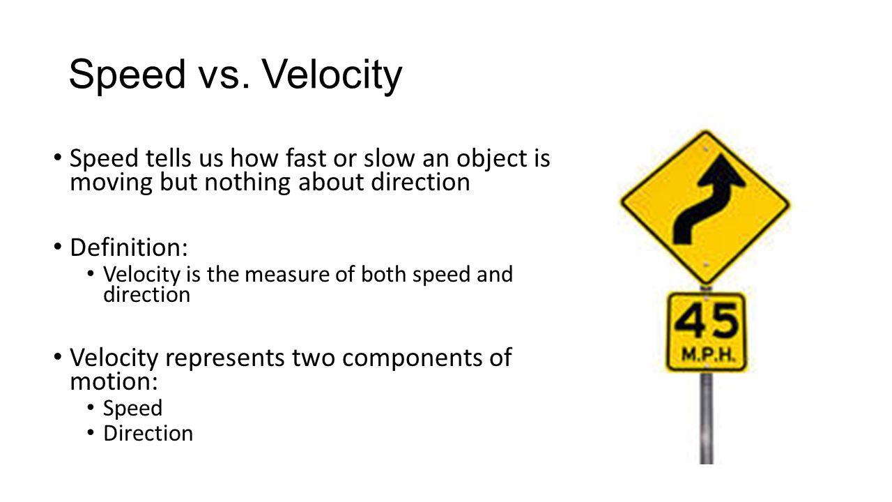 Speed vs.