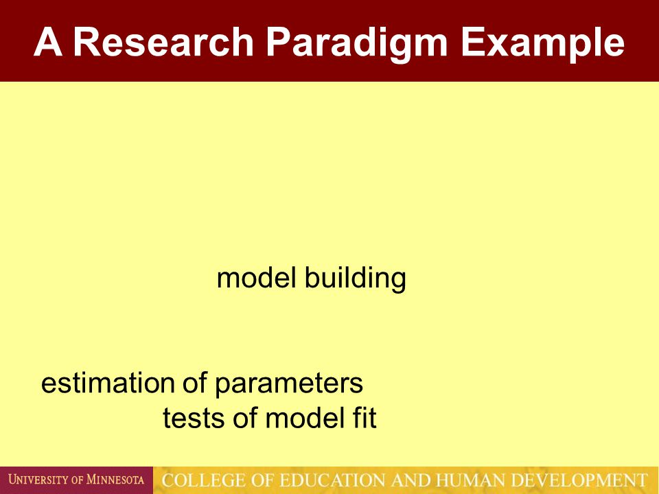 There are as many research paradigms out there as there are researchers.