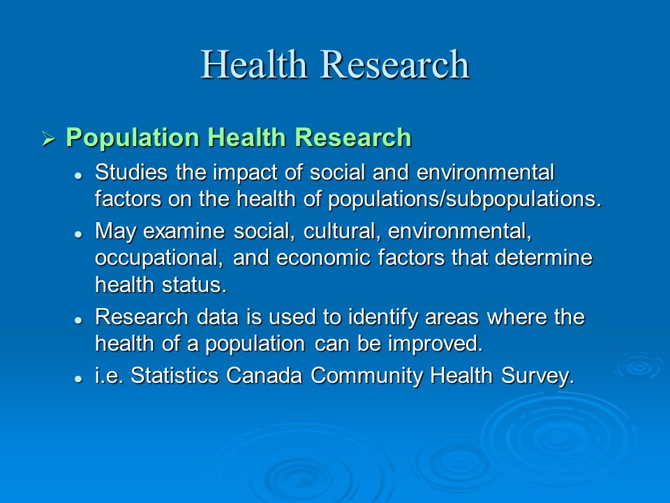 Health Research  Health Services/Systems Research Multidisciplinary field Multidisciplinary field Aims to improve the efficiency and effectiveness of