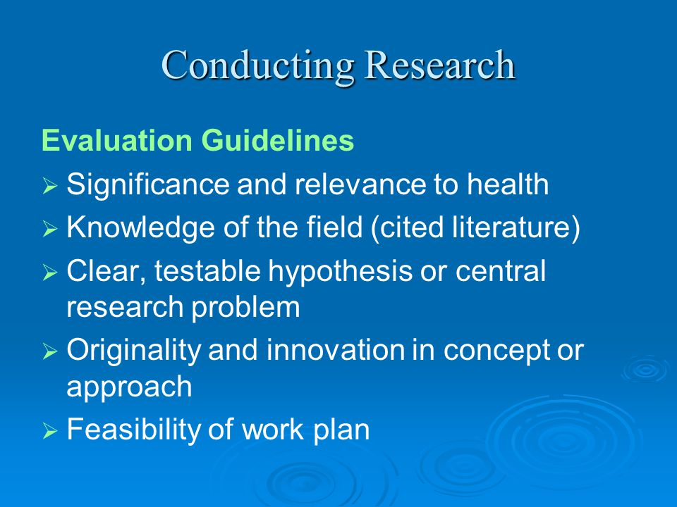 Research is a process   1. Generate idea   2. Conduct literature review   3. Refine research question   4. Plan research methodology   5. Cr