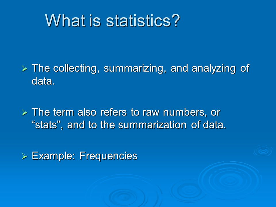 Basic Statistics for Putting your Research Ideas into Practice