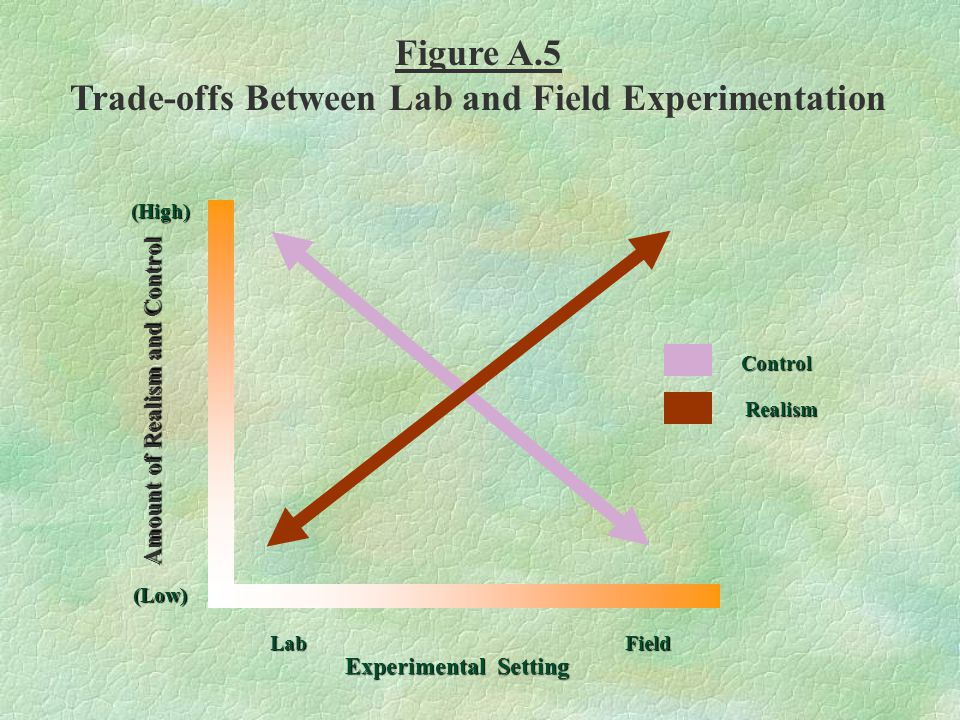 (High) (Low) LabField Experimental Setting Amount of Realism and Control Control Realism Figure A.5 Trade-offs Between Lab and Field Experimentation
