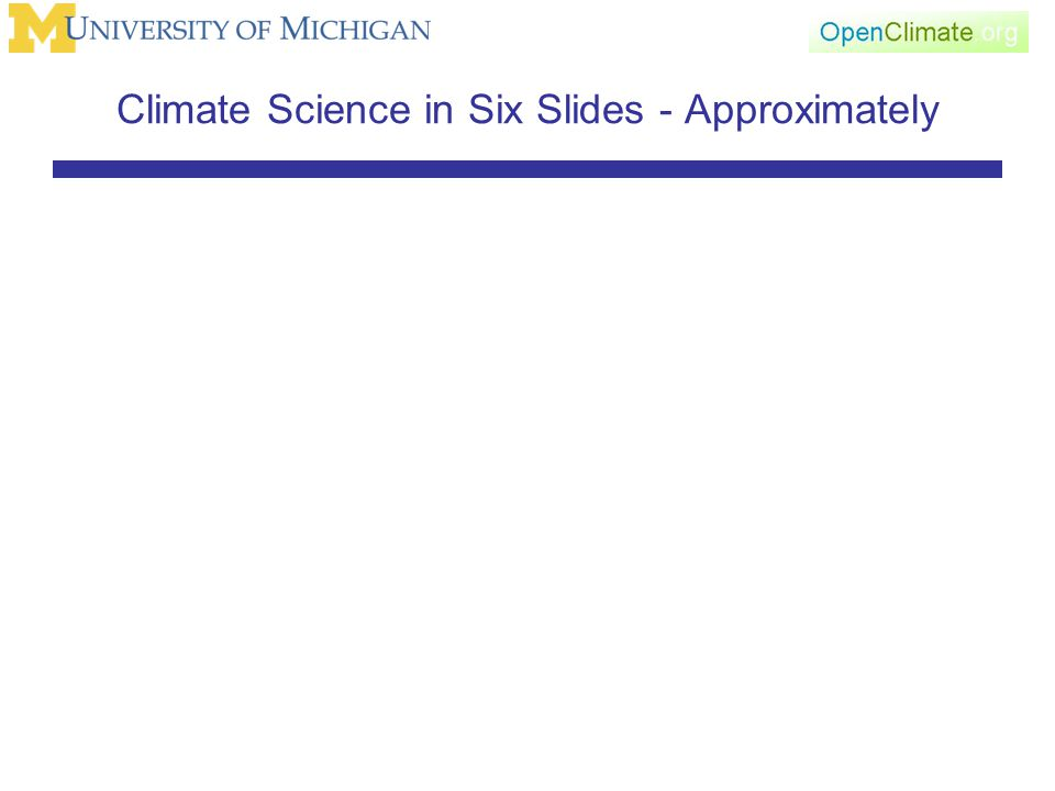 Climate Science in Six Slides - Approximately