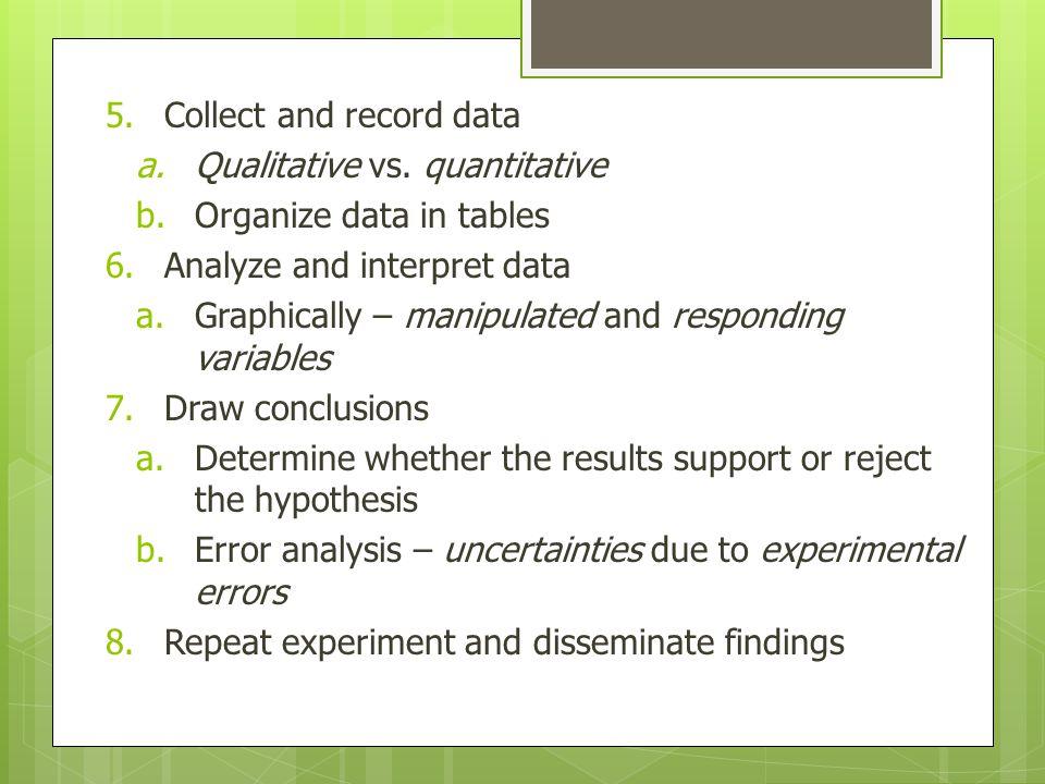 5.Collect and record data a.Qualitative vs.