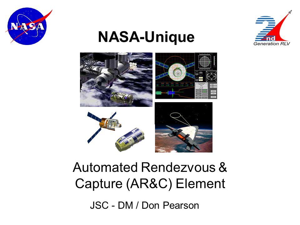 NASA-Unique Automated Rendezvous & Capture (AR&C) Element JSC - DM / Don Pearson