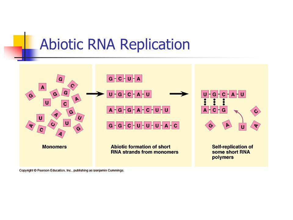 Abiotic RNA Replication