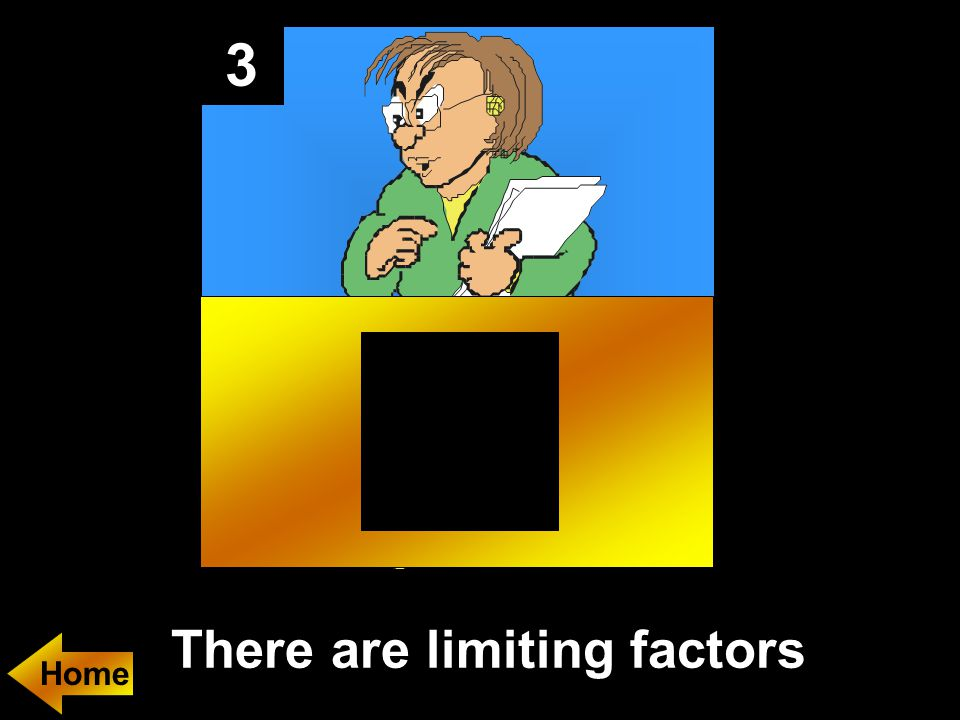 3 There are limiting factors Home