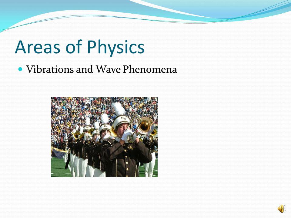 Areas of Physics Vibrations and Wave Phenomena
