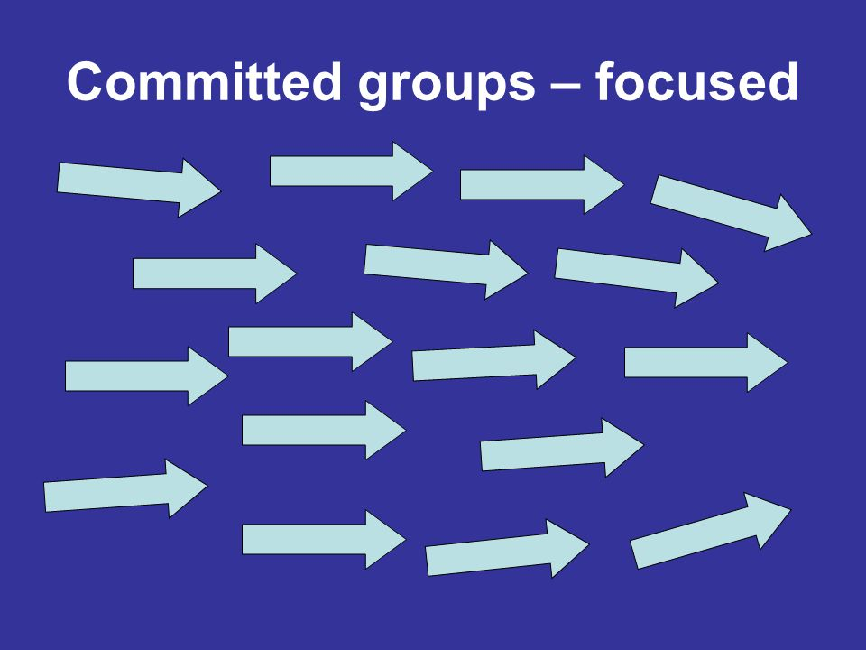 Committed groups – focused