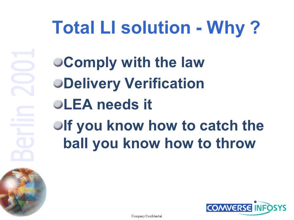 Company Confidential Network optimization
