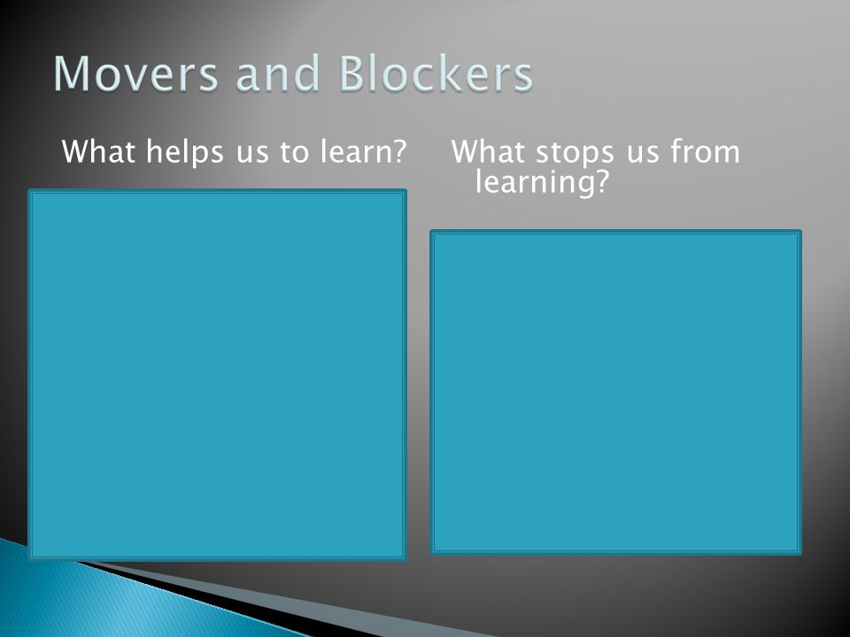  Establish what the children already know about a topic, what they want to learn about and how they are going to learn. This gives them ownership but