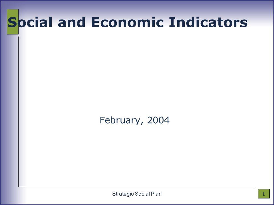 1Strategic Social Plan Social and Economic Indicators February, 2004