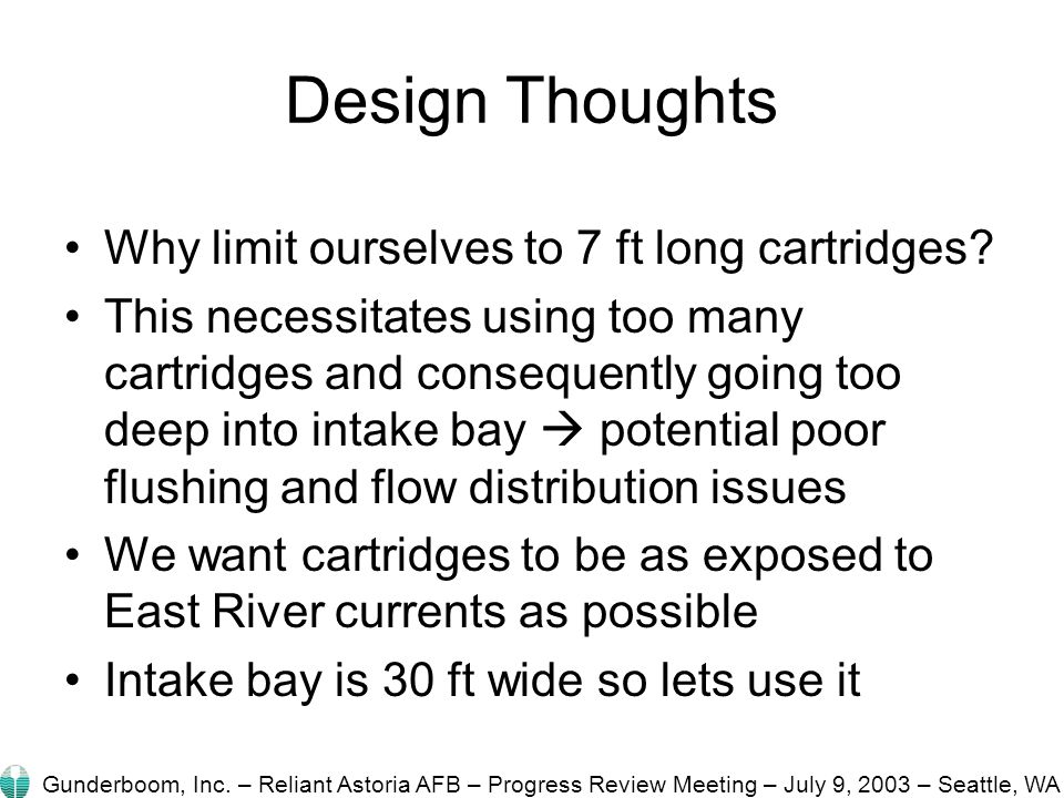Design Thoughts Why limit ourselves to 7 ft long cartridges.