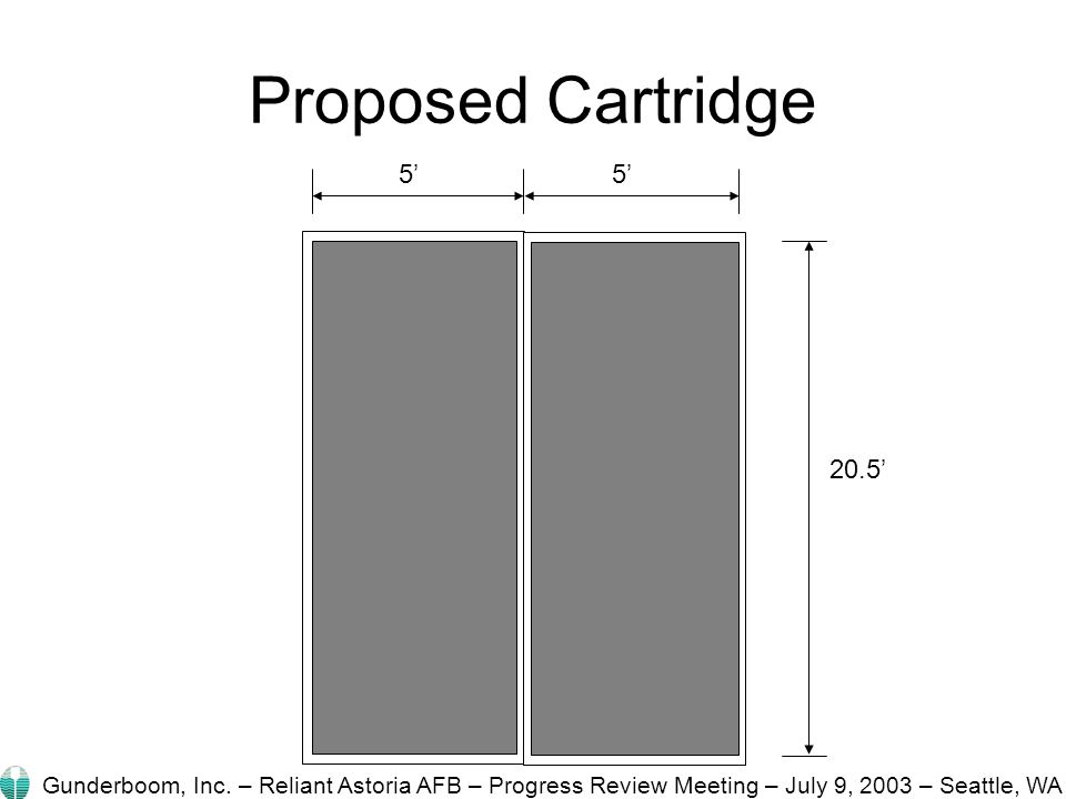 Proposed Cartridge 5' 20.5' Gunderboom, Inc.
