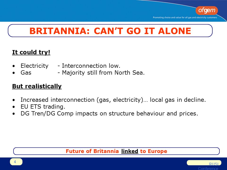 RUSI Conference 4 BRITANNIA: CAN'T GO IT ALONE It could try.