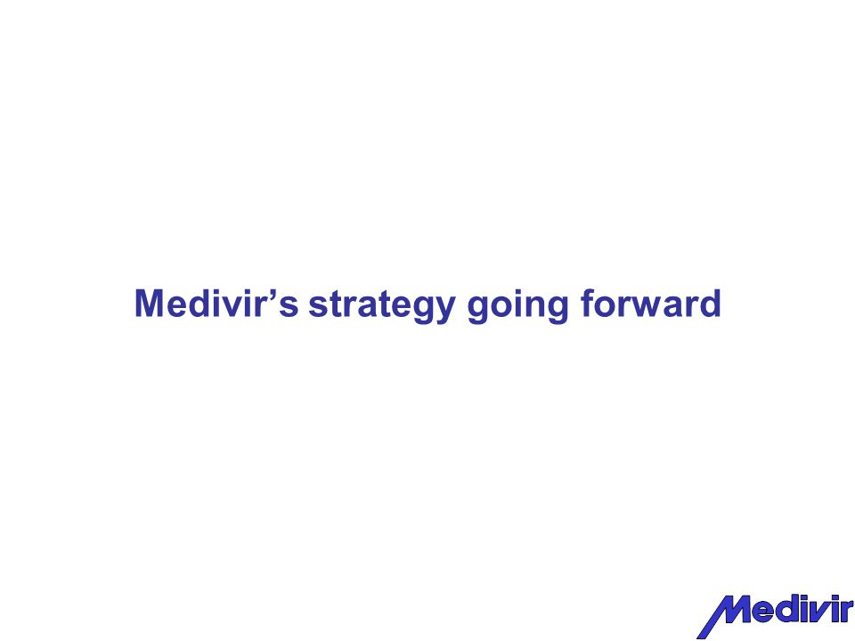 Medivir's strategy going forward