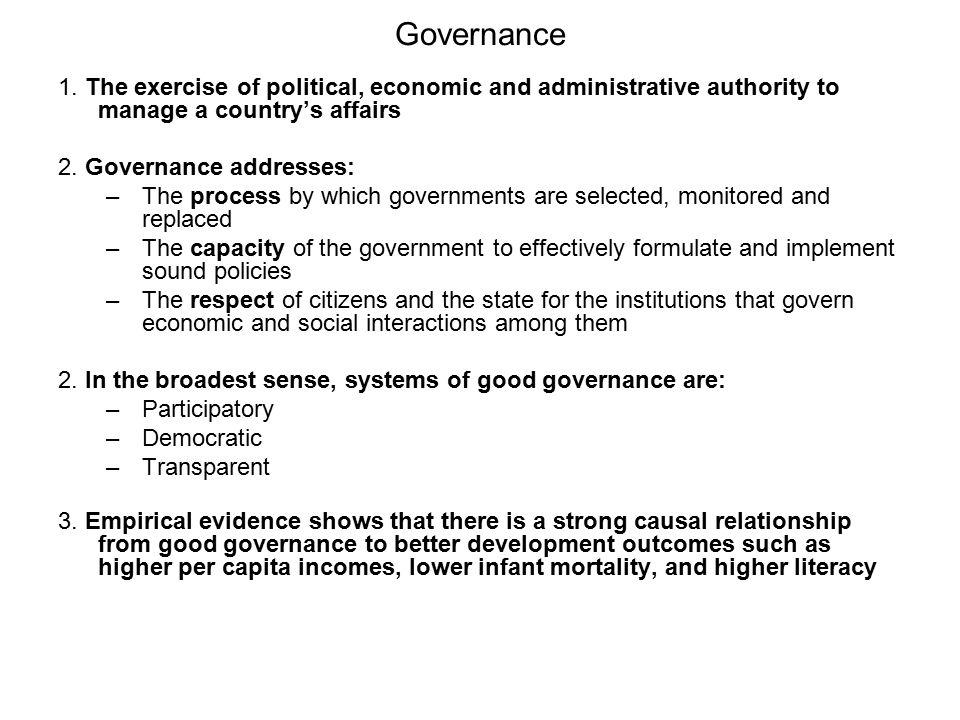 Governance 1.