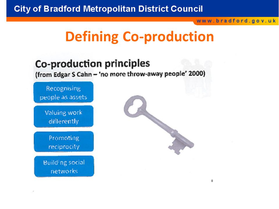 Defining Co-production