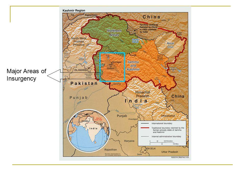 Major Areas of Insurgency