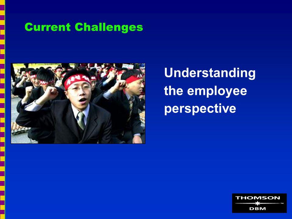 Current Challenges Understanding the employee perspective