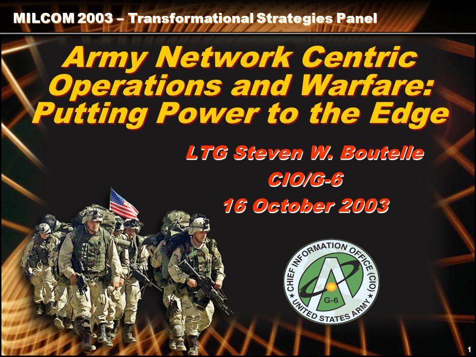 Signal Symposium 2002 12 LTG Steven W. Boutelle CIO/G-6 Questions? 12