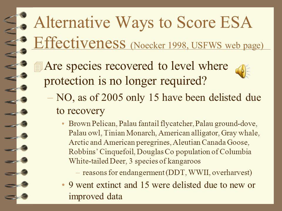 More References 4 Miller, J.K.et al. 2002. The endangered species act: dollars and sense.