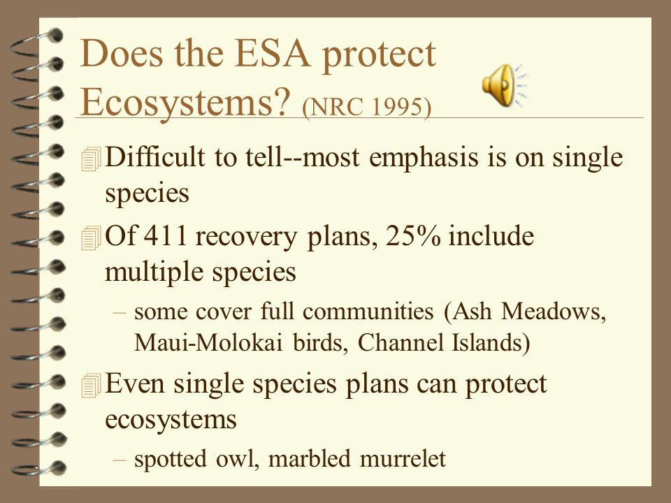 Could the ESA be Strengthened.(Carroll et al.