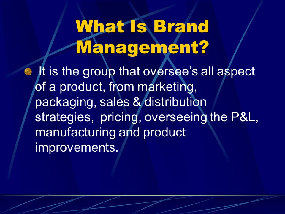 What Is Brand Management.