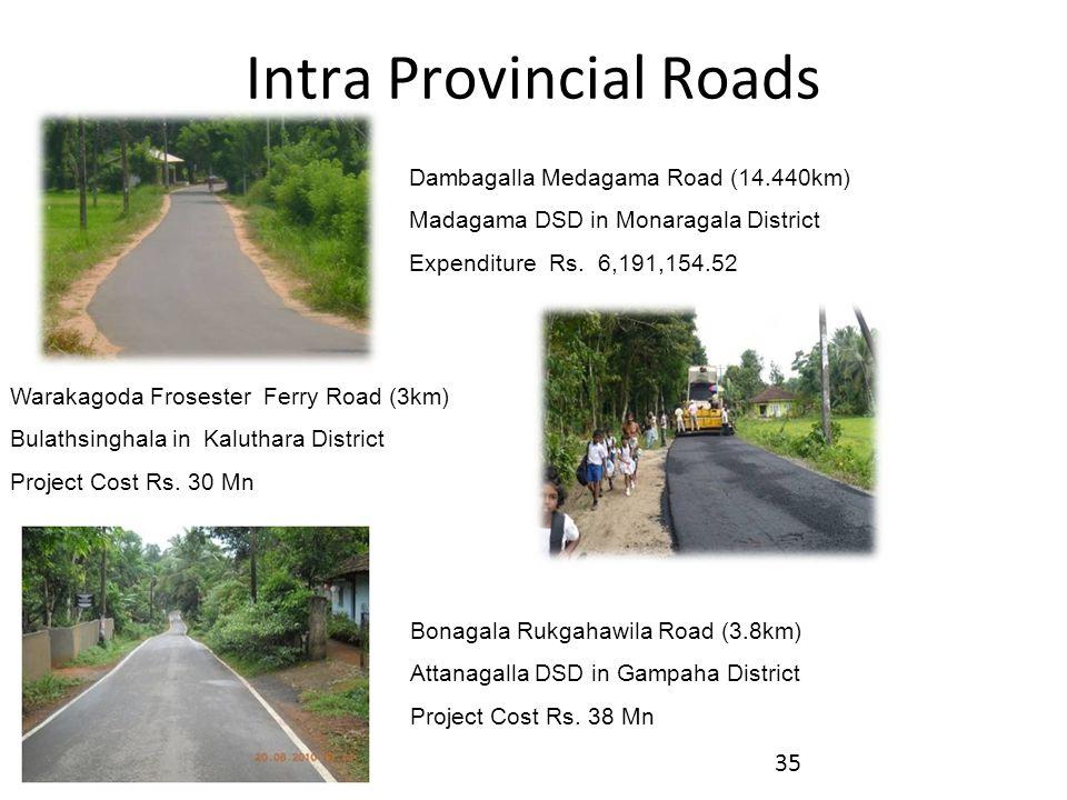 Dambagalla Medagama Road (14.440km) Madagama DSD in Monaragala District Expenditure Rs.