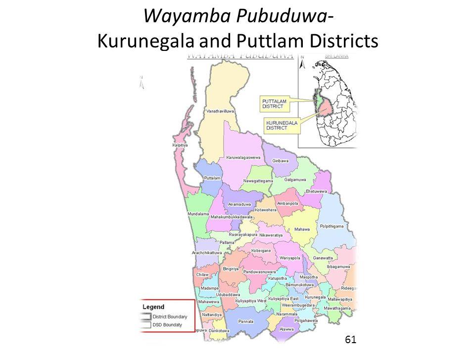 Wayamba Pubuduwa- Kurunegala and Puttlam Districts 61