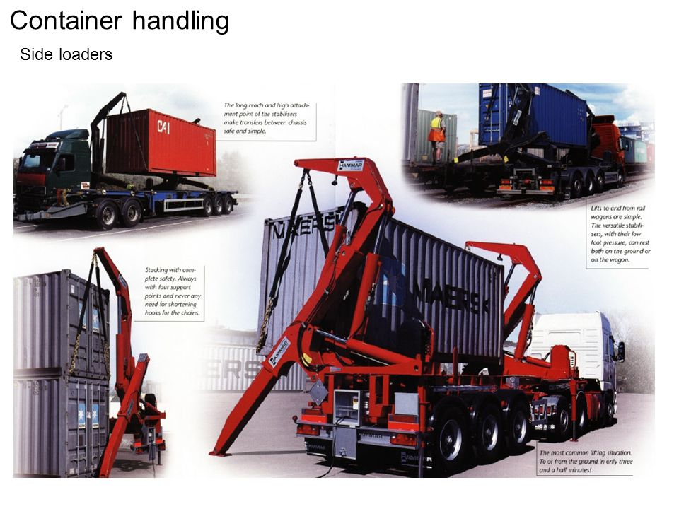 Container handling Side loaders