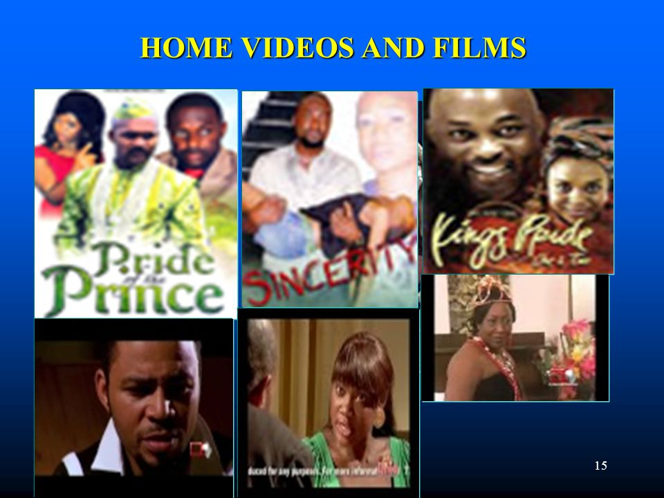 HOME VIDEOS AND FILMS 15