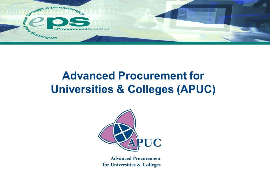 eProcurement Scotl@nd 5 Overview of APUC (Ref.