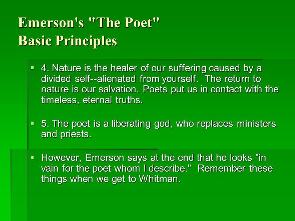 Emerson s The Poet Basic Principles  4.