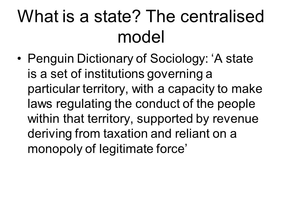 What is a state.