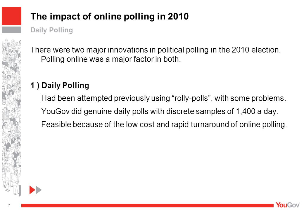 There were two major innovations in political polling in the 2010 election.
