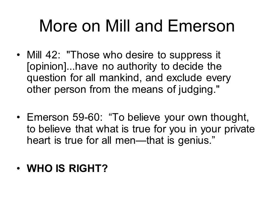More on Mill and Emerson Mill 42: