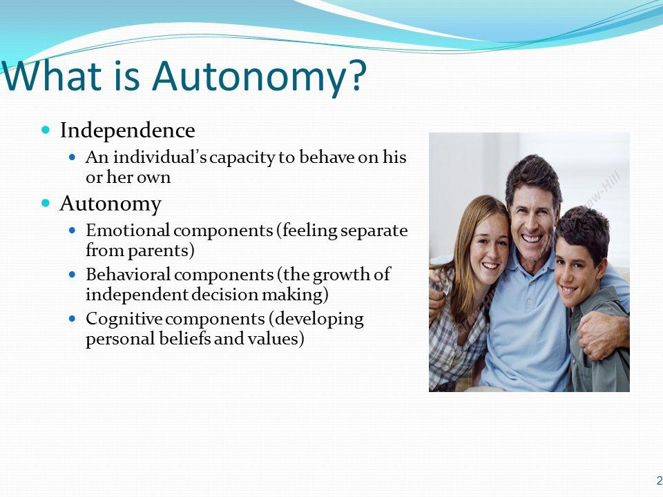 What is Autonomy.