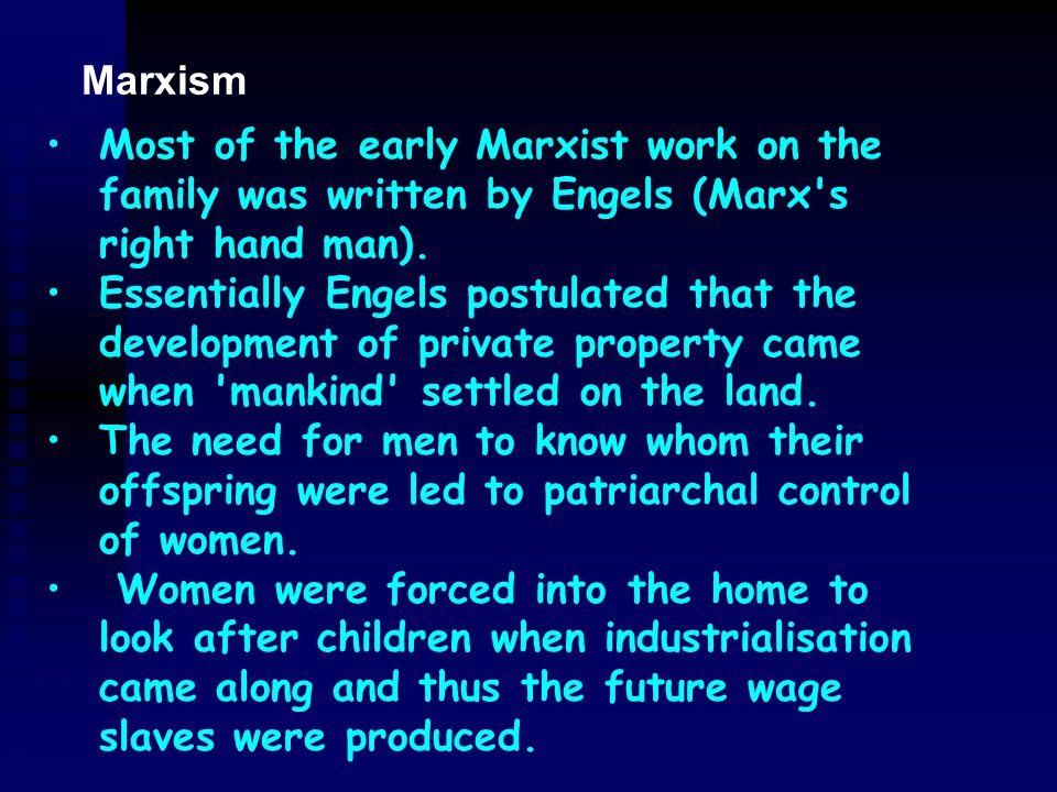 Abbot & Wallace 1992 criticise the New Right from a socialist/feminist perspective see women as exploited in the 'traditional' family set up violence