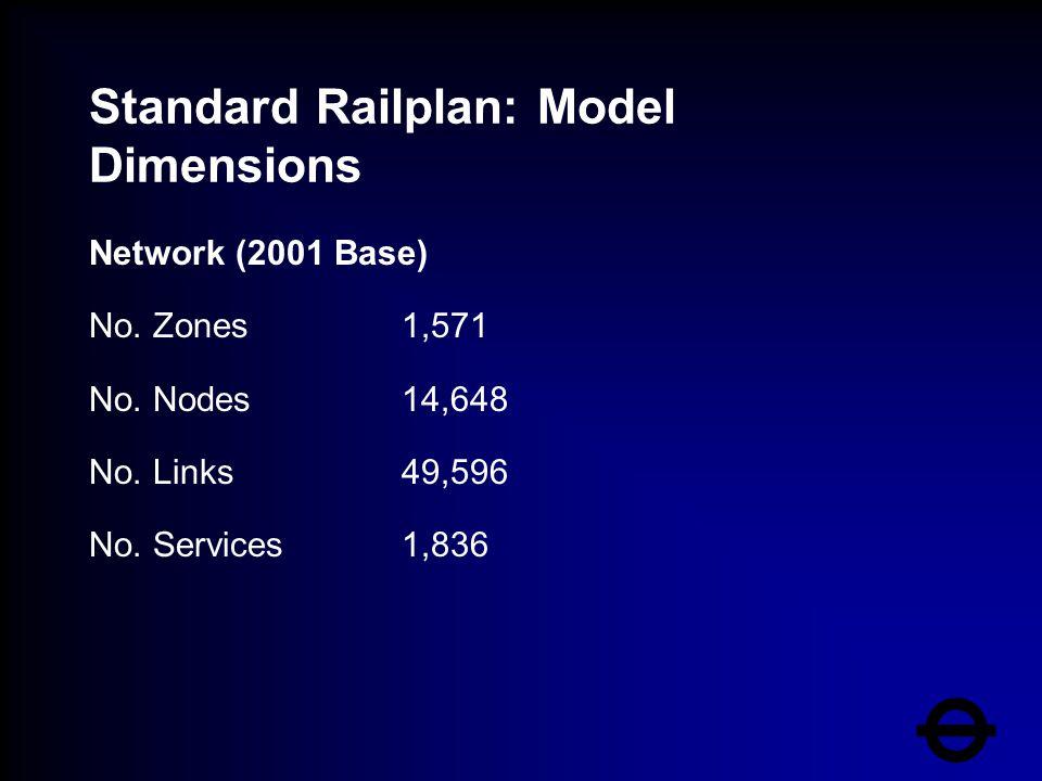 Standard Railplan: Model Dimensions Network (2001 Base) No.