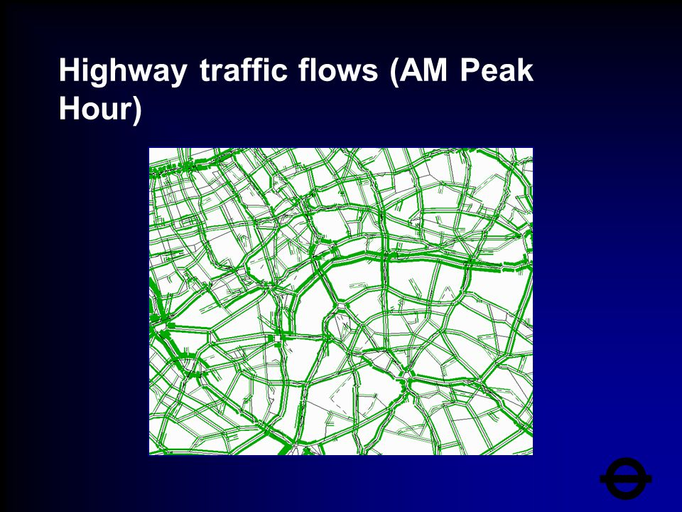 Highway traffic flows (AM Peak Hour)