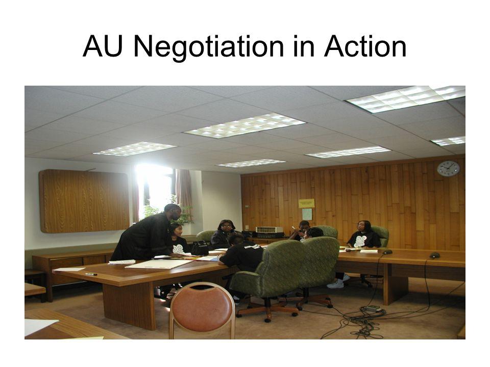 AU Negotiation in Action