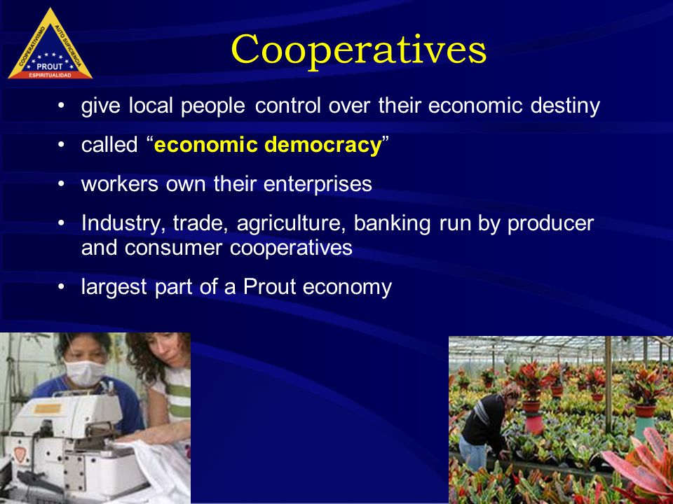 "16 Cooperatives give local people control over their economic destiny called ""economic democracy"" workers own their enterprises Industry, trade, agric"