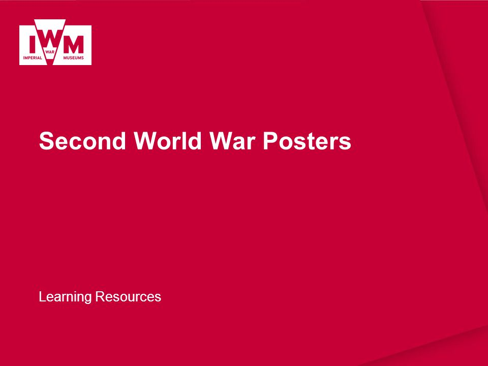 Second World War Posters Learning Resources