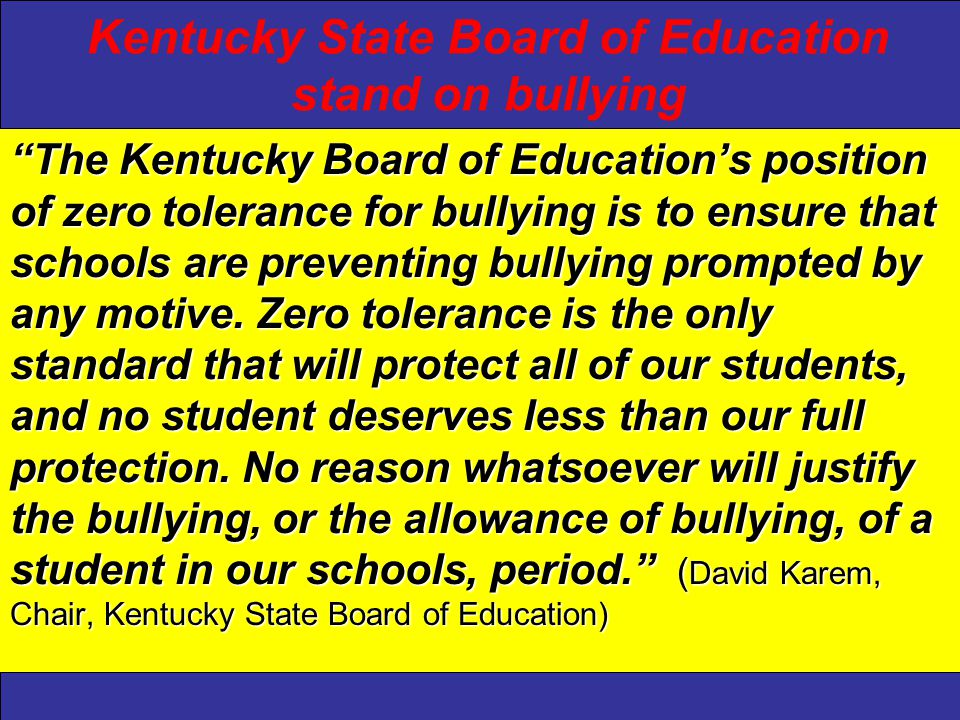 Kentucky Center for School Safety At least 160,000 students skip classes each school day because they fear physical harm.At least 160,000 students skip classes each school day because they fear physical harm.