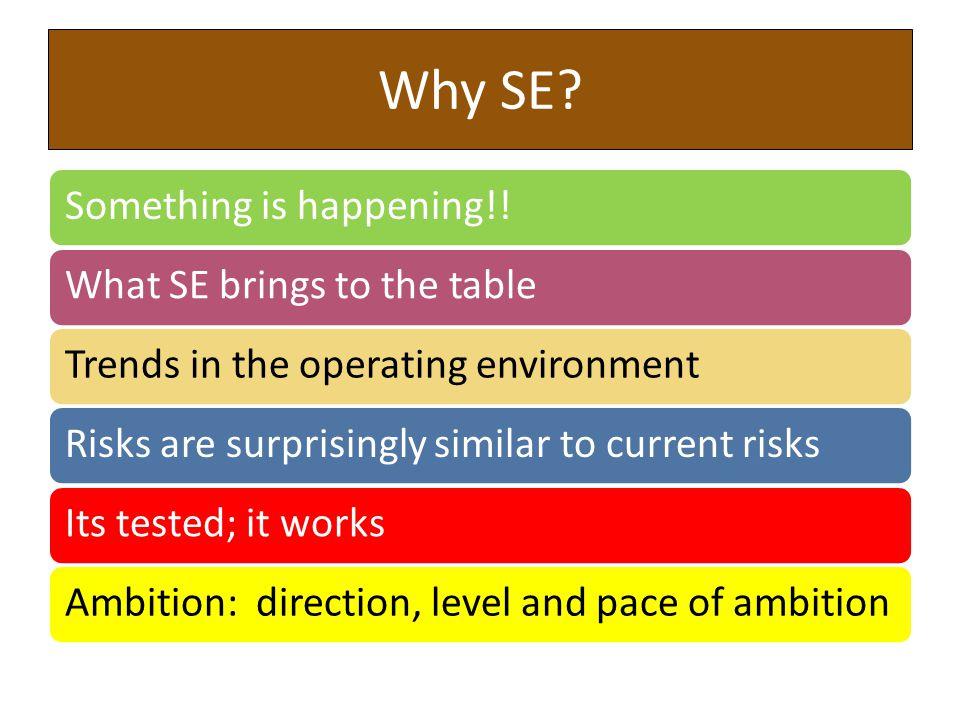 Why SE.