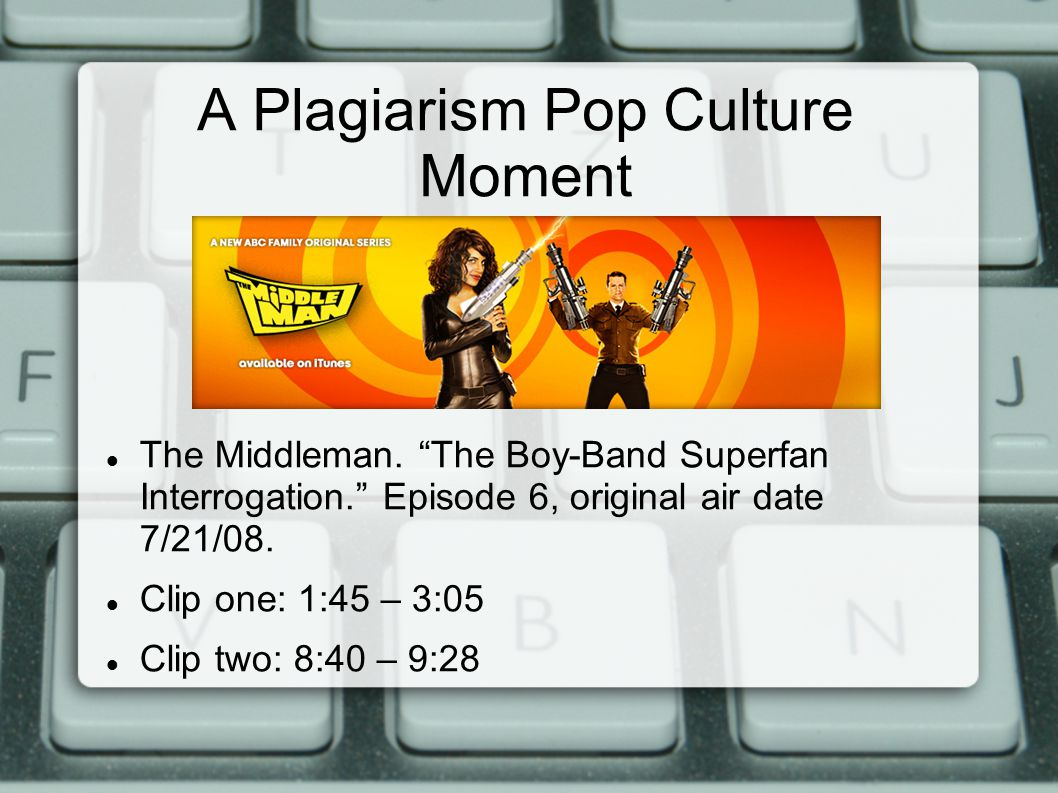A Plagiarism Pop Culture Moment The Middleman.