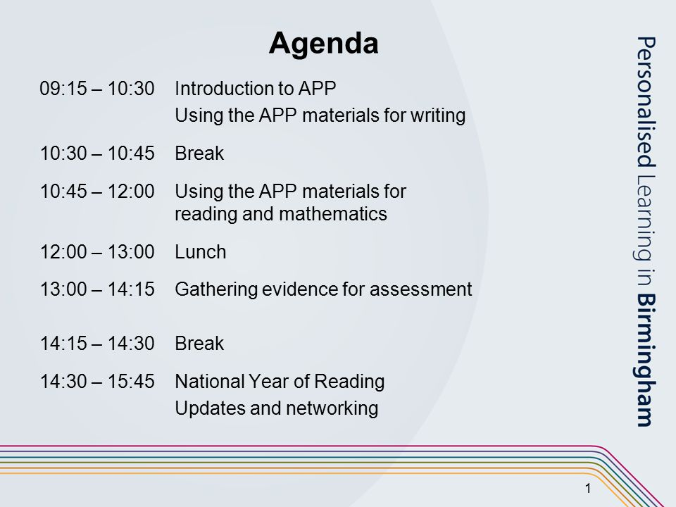 2 Sessions 1 and 2 Assessing Pupils' Progress (APP)